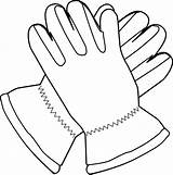 Gloves Coloring Pages Cliparts Computer Designs sketch template