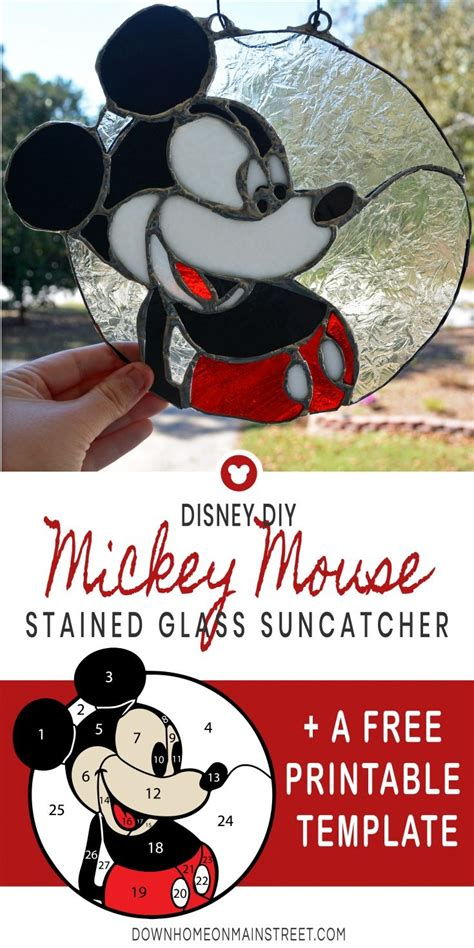 mickey mouse stained glass suncatcher disney stained