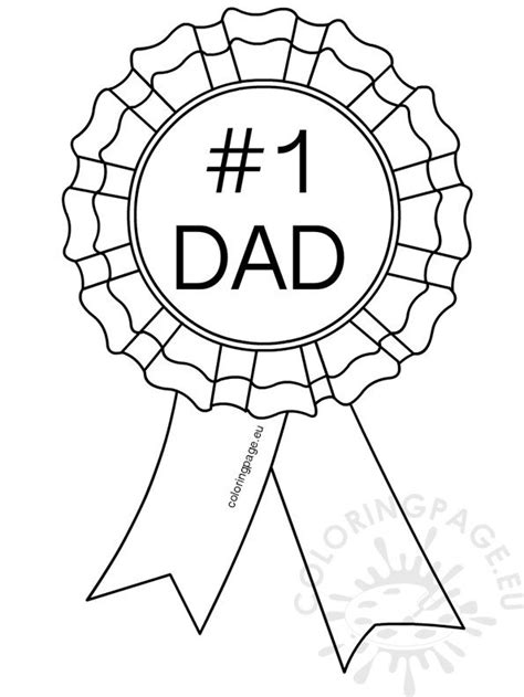 number  dad rosette coloring page
