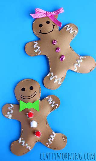 stuffed gingerbread boy girl craft  kids christmas