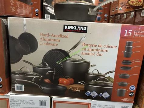 kirkland cookware anodized hard signature piece costco box cochaser