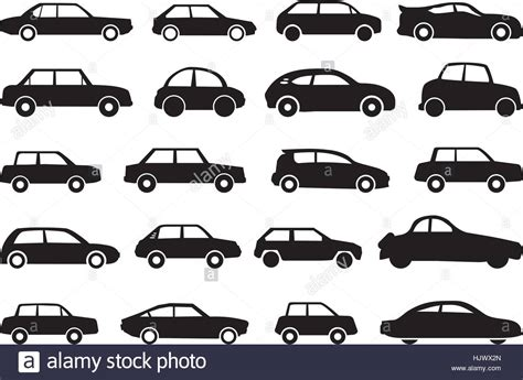 Various Types Of Car Shapes As Vector Graphic Stock Vector