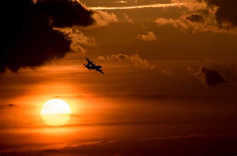 military  hercules sunset