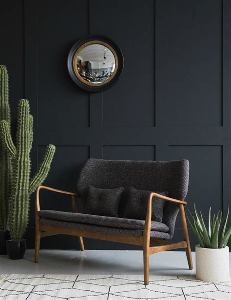 Mid Century Settee by Aarhus Mid Century Two Seater Sofa Grey Grey