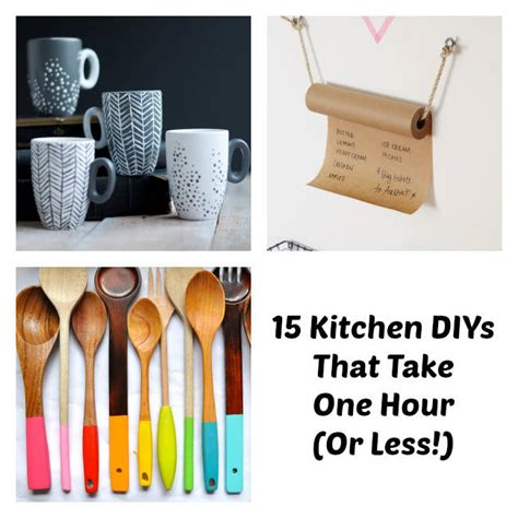 diy ideas for kitchen easy kitchen diy one hour kitchen projects