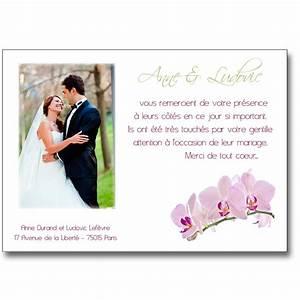 Carte Grise Apres Deces : carte de remerciement mariage branche d 39 orchid e ~ Maxctalentgroup.com Avis de Voitures