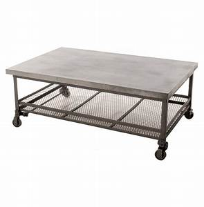 urban mercantile galvanized steel industrial coffee table With galvanized steel coffee table