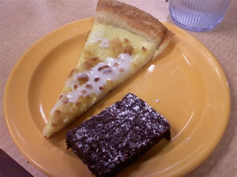 Bavarian Cream dessert pizza and brownie at CiCi's Pizza ...