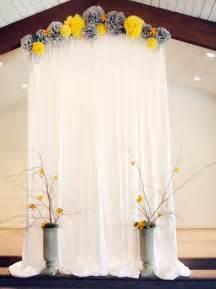 Yellow Wedding Backdrop