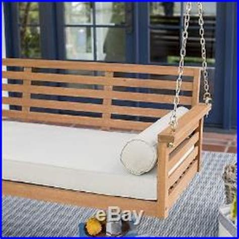 Porch Swing Bed Cushions by Outdoor Patio Porch Swing Hanging Bed Wood Chair Seat