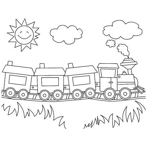 Kleurplaat Trein Met Wagonnetjes kleurplaat trein met wagonnetjes leuk voor een