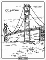 Bridge Swinging Gate Golden Drawing Sketch Step Template Coloring Pages sketch template