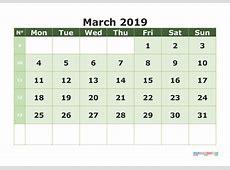 March 2019 Calendar With Holidays 2018 calendar printable