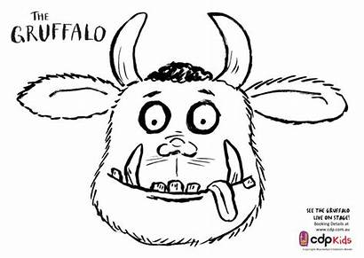 Gruffalo Colouring Template Activities Mask Face Coloring