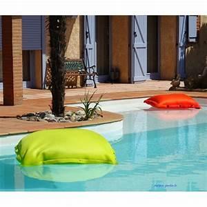 Poire Pouf Pas Cher : coussin piscine pouf 100x100 cm flottant shelto pas ~ Melissatoandfro.com Idées de Décoration