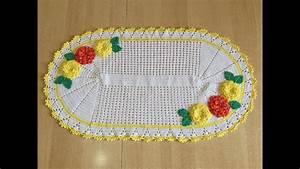 Set De Table Au Crochet : tuto chemin de table tapis ovale youtube ~ Melissatoandfro.com Idées de Décoration