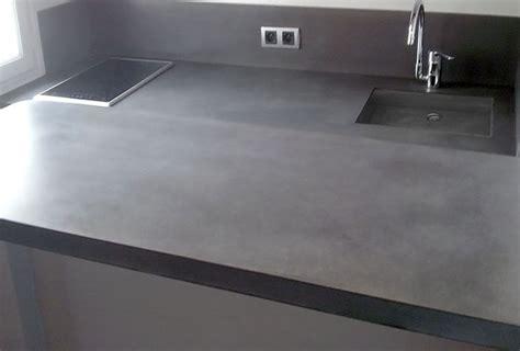 beton ciré cuisine plan travail taporo eau et feu plan de travail cuisine