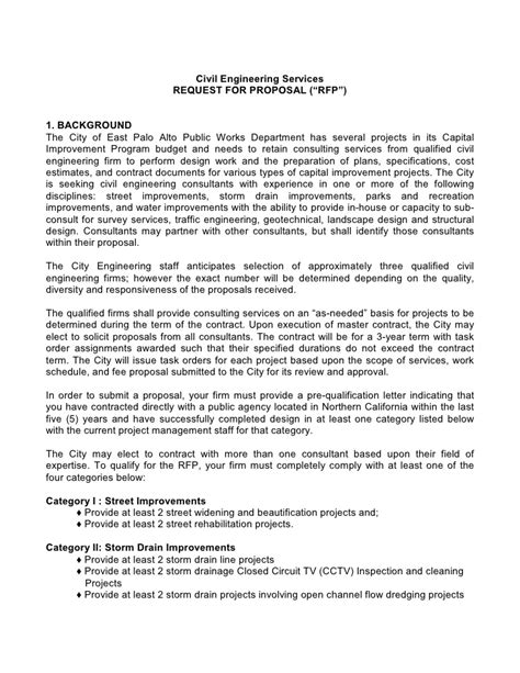 Engineering Services Contract Template by Sle Request Letter For Project Sponsorship