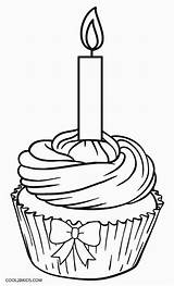 Cupcake Coloring Pages Birthday Template Muffin Cupcakes Printable Happy Drawing Cool2bkids Food Colouring Print Cakes Sweets Crafts Ice Cream Blueberry sketch template