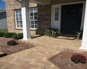 Sundek Concrete Custom Concrete Front Entryway Designs And Ideas St Louis Mo