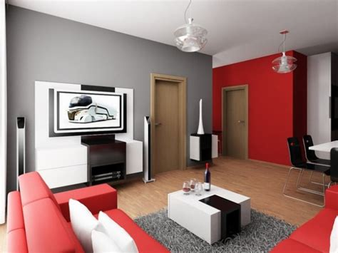 red and gray living rooms panda s house