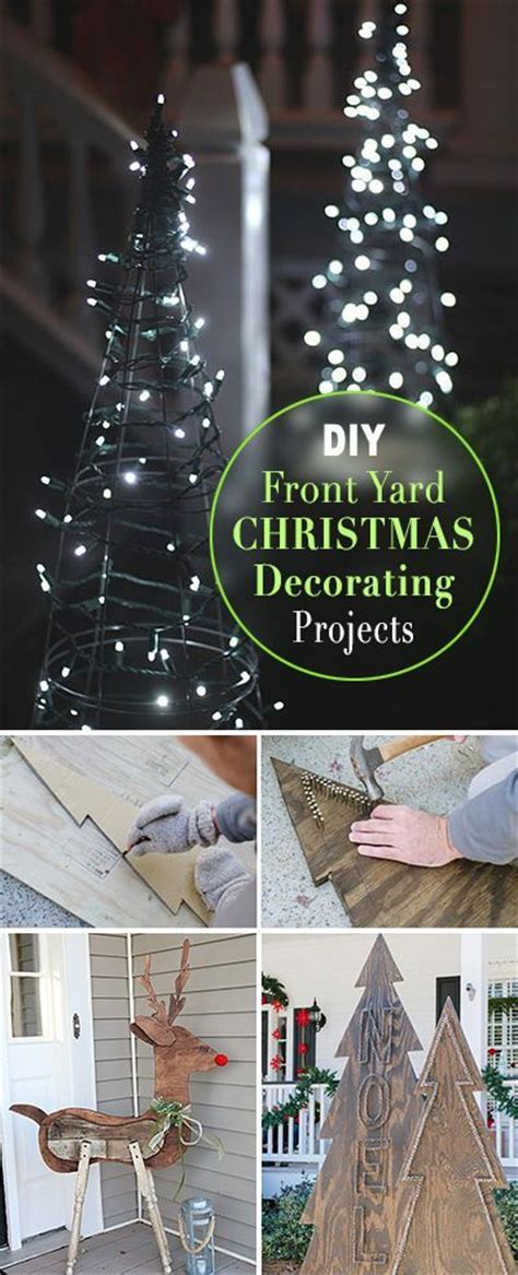 diy front yard christmas decorating projects front yards