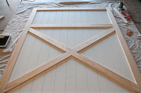 how to build a barn door frame diy barn door plans