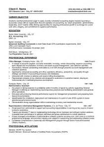 entry level accounting resume no experience resume summary exles entry level berathen