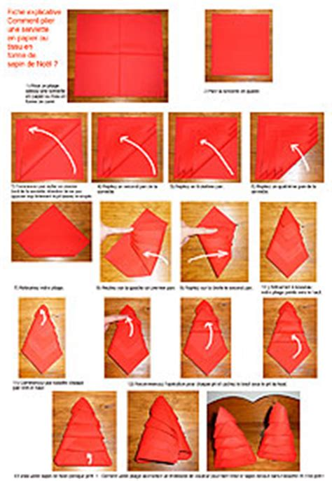 pliage de serviettes de table en papier pliage de papier origami deocration de table plier