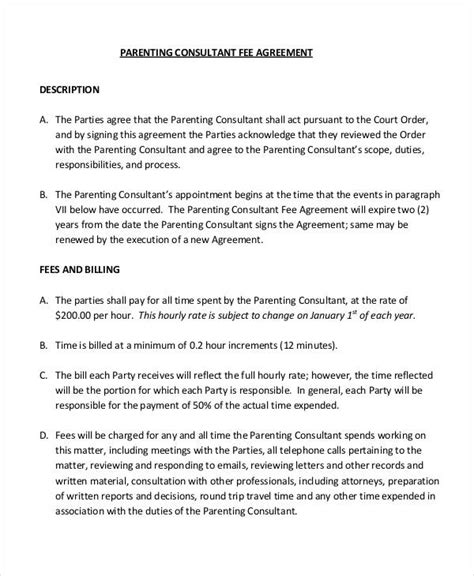 co parenting agreement template parenting agreement templates 8 free pdf documents free premium templates