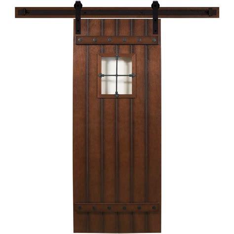 home hardware doors interior steves sons 24 in x 90 in tuscan iii stained hardwood interior barn door with sliding door