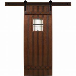 steves sons 24 in x 90 in tuscan iii stained hardwood With 24 inch sliding barn door