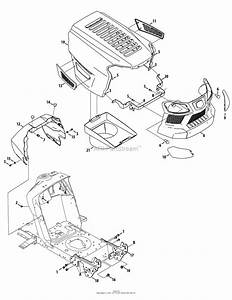 Mtd 13a278xs299  247 203770   T1200   2014  Parts Diagram For Hood  U0026 Grille