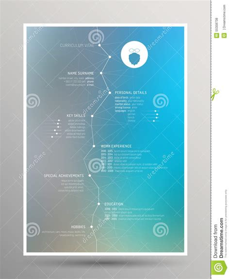Free Background Images For Resumes by Resume Curriculum Vitae Stock Vector Image 55358738