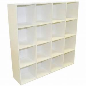 Meuble à Cases : etag re 16 cases multikaz blanc x x cm leroy merlin ~ Teatrodelosmanantiales.com Idées de Décoration