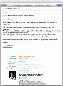 sample email to send resume jennywasherecom With how to send cv and cover letter by email