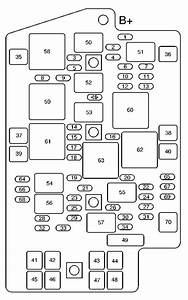 Pontiac Aztek  2004  - Fuse Box Diagram