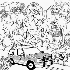 Jurassic World Coloring Page Ecoloringpagecom