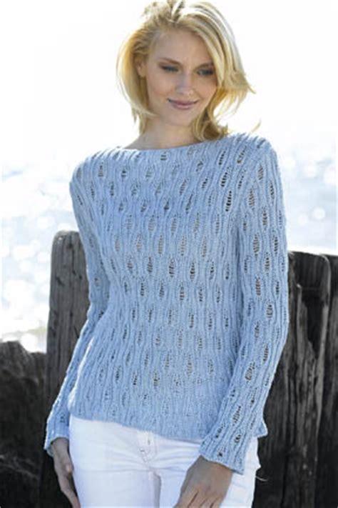 Boat Neck Raglan Sweater Pattern by Openwork Boatneck Sweater Free Knitting Pattern Knitting Bee