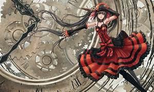 2884103, anime, girls, artwork, eye, patch, tokisaki, kurumi, date, a, live, gun, wallpaper, and, background
