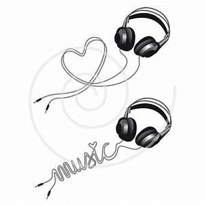 Headphone Music Note Clipart | www.imgkid.com - The Image ...