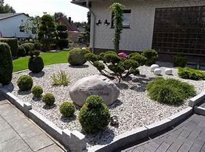 Moderne vorgarten mit steinen nowaday garden for Garten planen mit deko bonsai kunststoff