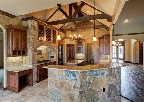 custom home designers bailee custom homes rustic kitchen dallas by q