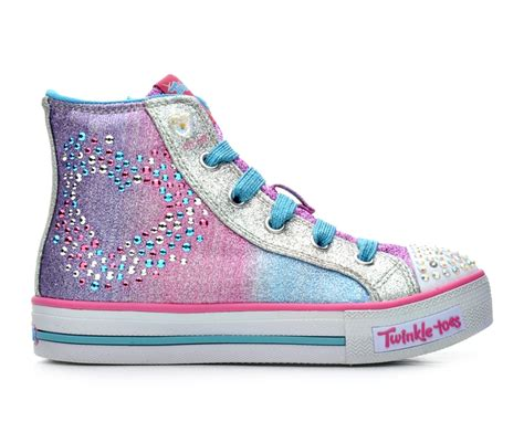 light up shoes turn off girls 39 skechers glitzy hearts 10 5 4 light up shoes