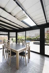 Store De Veranda Interieur : veranda salle a manger store int rieur du toit ouvert les cl s de la maison ~ Voncanada.com Idées de Décoration