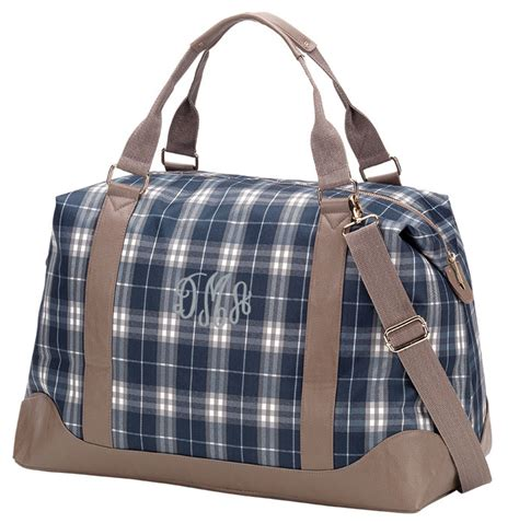 monogram plaid accessory bag personalized
