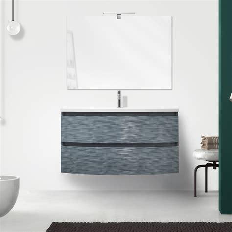 mobile bagno 100 cm mobile bagno sospeso 100 cm oceano azzurro opaco con