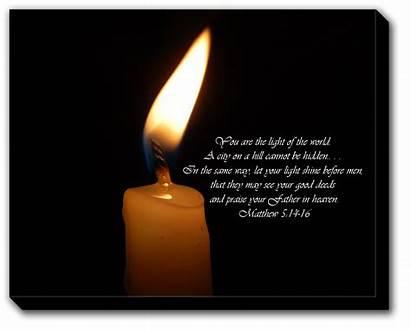Bible Matthew Scripture Ye Hill Scriptures Candle