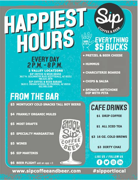 They're open until 9:00 p.m. Events - Sip Coffee & Beer - Local Coffee Shop