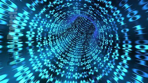 looping animation   binary code tunnel blue youtube